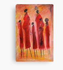 Moms and kids Canvas Print