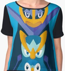 """Piplup, Prinplup y Empoleon """"Piplup evolution"""" Chiffon Top"""