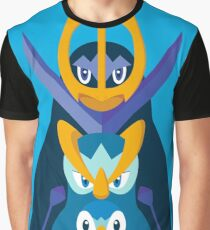 "Piplup, Prinplup y Empoleon ""Piplup evolution"" Graphic T-Shirt"