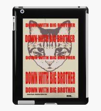 Orwellian Cat: Down With Big Brother iPad Case/Skin