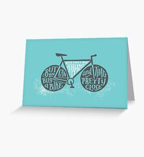 You Can't Buy Happiness (Teal) Greeting Card