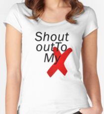 Shout out to my X - Little mix Women's Fitted Scoop T-Shirt