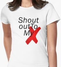 Shout out to my X - Little mix Women's Fitted T-Shirt