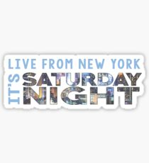 Saturday Night Live (SNL) Skyline Print Sticker