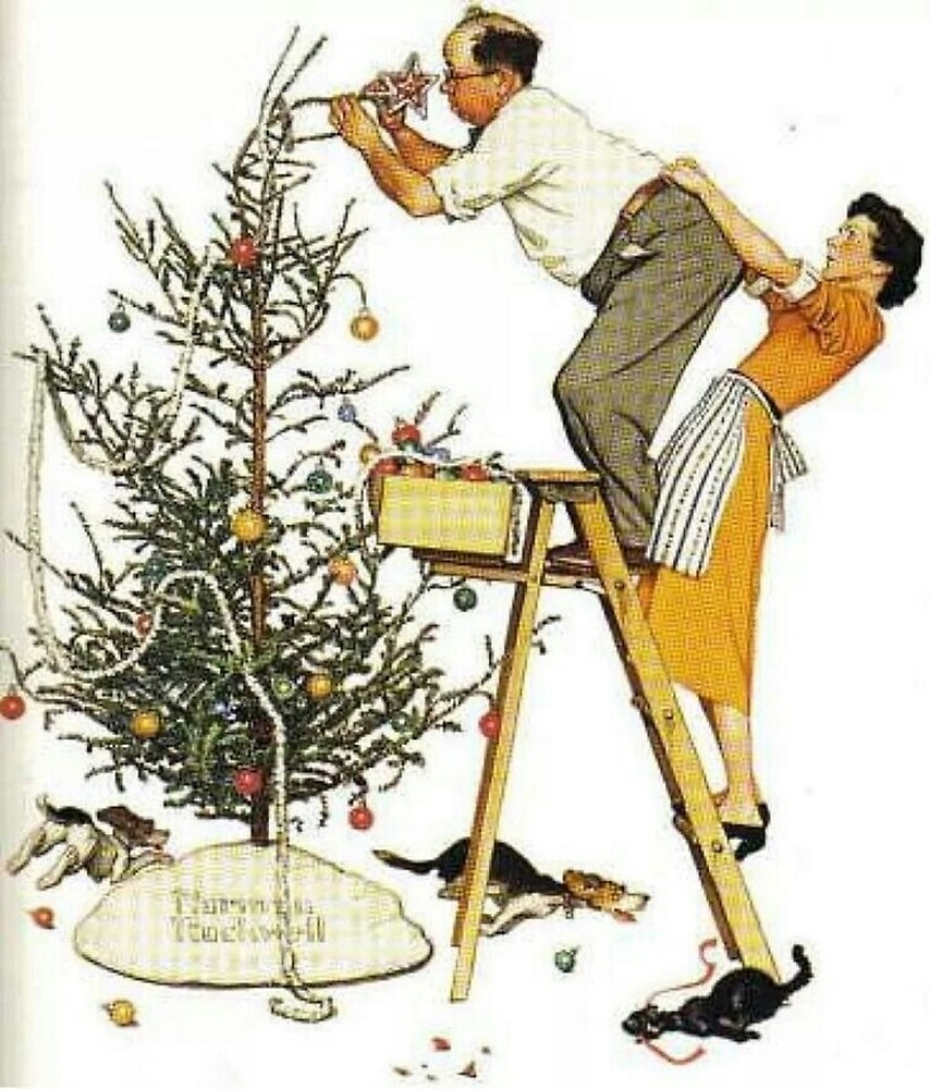 Norman Rockwell Christmas Tree\