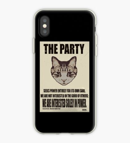 Orwellian Cat Is Not Interested iPhone Case