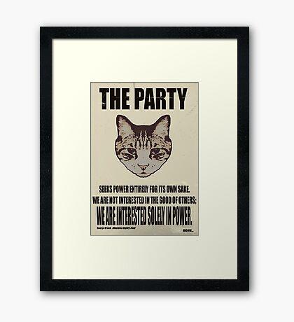 Orwellian Cat Is Not Interested Framed Print