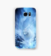 Jon Snow and Ghost - Game of thrones - Winter is here Samsung Galaxy Case/Skin