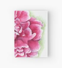 Pink and White Watercolor Peony Hardcover Journal