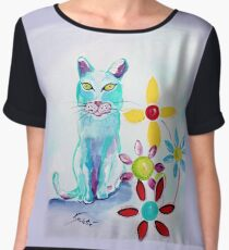 I See You - Cat Art by Valentina Miletic Women's Chiffon Top