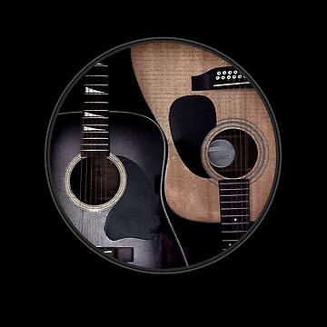 Ying Yang Akustische Gitarren von TheFlying6