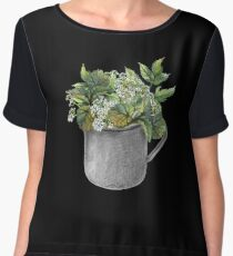 Mug with green forest growth Chiffon Top