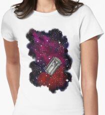 Floating in a Tin Can  Womens Fitted T-Shirt