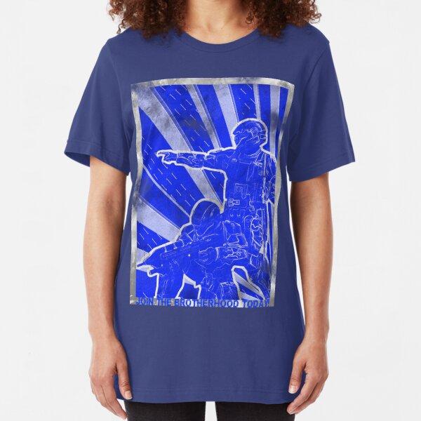 """BLUE Army """"ODST"""" Propaganda Slim Fit T-Shirt"""