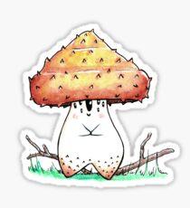 Pholiota Aurivella Mushroom Sticker