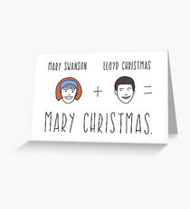 Dumb & Dumber Christmas Card - Mary Christmas Greeting Card