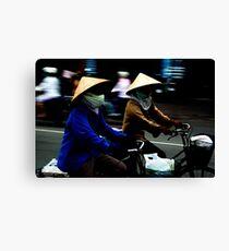 Ho Chi Minh City. Street Riders Canvas Print