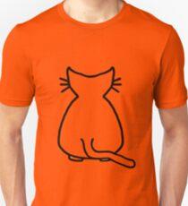 Cat Outline Unisex T-Shirt