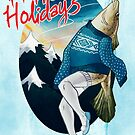 Festive Atlantic Cod Holiday Cards by Livali Wyle