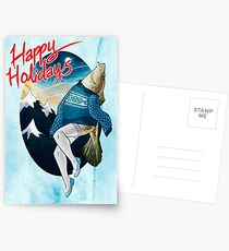 Festive Atlantic Cod Holiday Cards Postcards