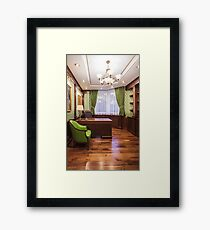 empty luxury cabinet the boss Framed Print