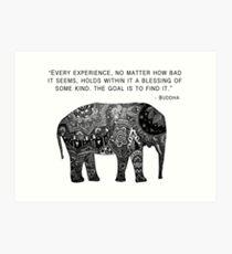 Lámina artística Elefante de la sabiduría de Buda