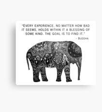 Buddha Wisdom Elephant Metal Print