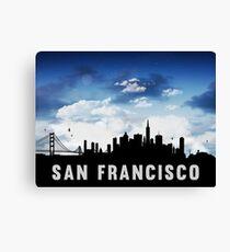 San Francisco California Skyline Cityscape Nightfall Canvas Print