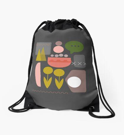 Night Garden Drawstring Bag