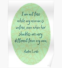 Audre Lorde Freedom and Shackles Poster