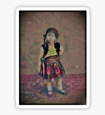 Tiny Gypsy Girl in Mary Jane Shoes Sticker