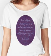 Audre Lorde Freedom and Shackles (Dark) Women's Relaxed Fit T-Shirt