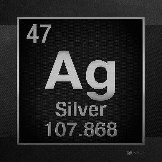 Psters tabla peridica de elementos plata ag en negro de tabla peridica de elementos plata ag en negro de serge averbukh urtaz Choice Image