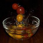 Splashing Tomatos by emmelined