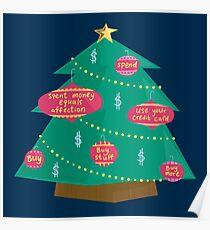 Capital Christmas tree Poster