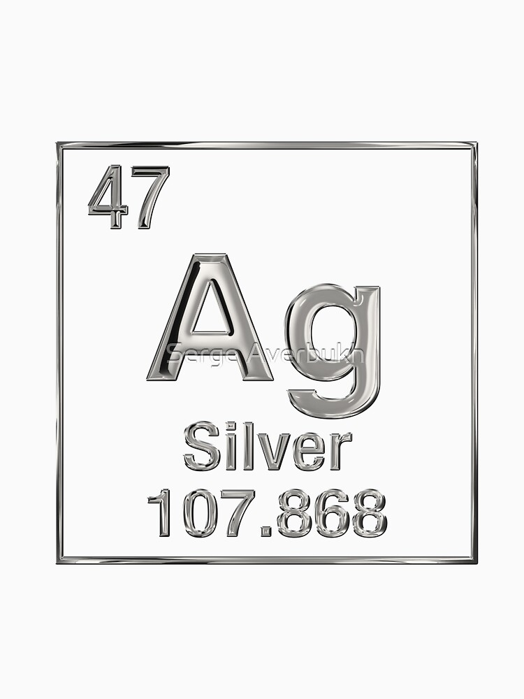 Periodic table of elements silver ag womens fitted v neck t periodic table of elements silver ag by captain7 urtaz