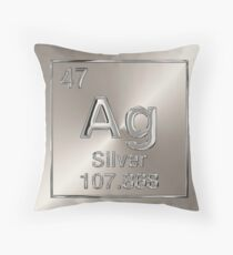 Periodic Table of Elements - Silver (Ag) Throw Pillow