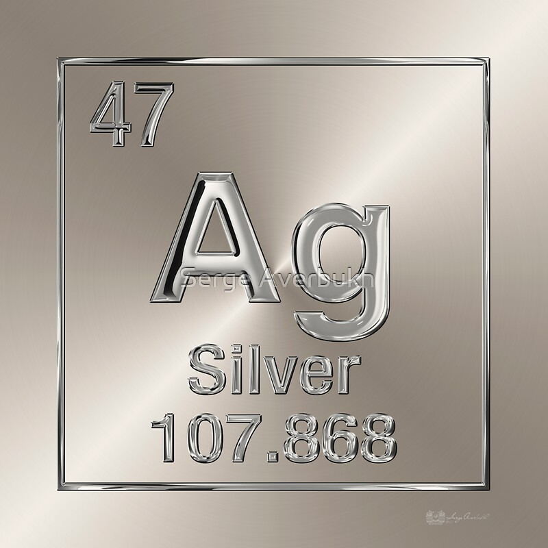 Periodic table of elements silver ag stickers by serge periodic table of elements silver ag by serge averbukh urtaz Gallery