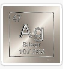 Periodic Table of Elements - Silver (Ag) Sticker