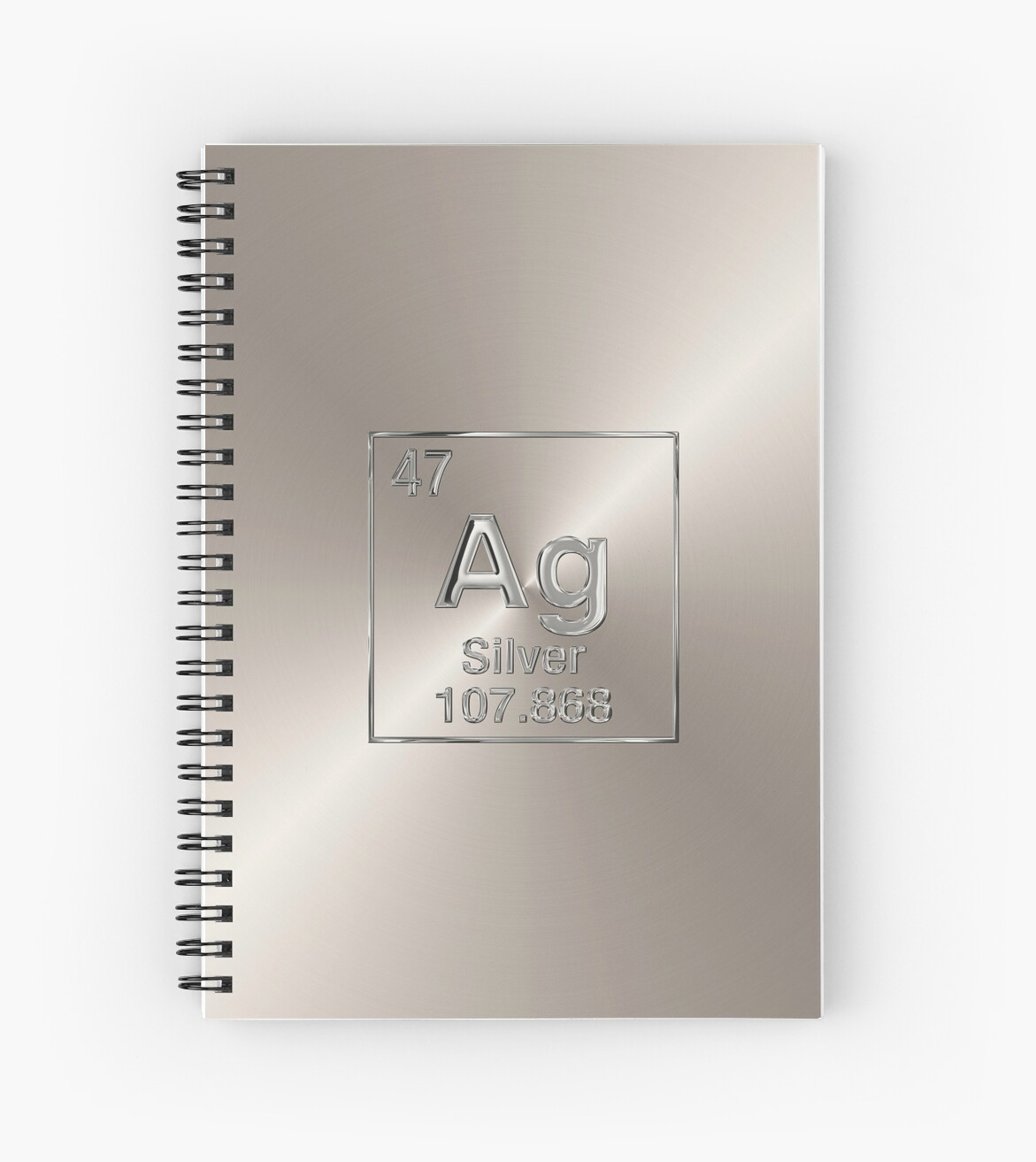 Periodic table of elements silver ag spiral notebooks by serge periodic table of elements silver ag by serge averbukh urtaz