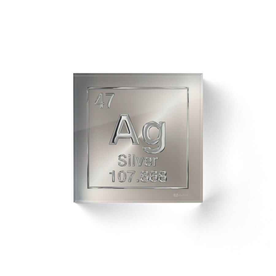 Periodic table of elements silver ag acrylic blocks by serge periodic table of elements silver ag by serge averbukh urtaz Image collections