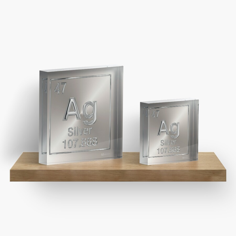 Periodic table of elements silver ag acrylic blocks by serge periodic table of elements silver ag gamestrikefo Gallery