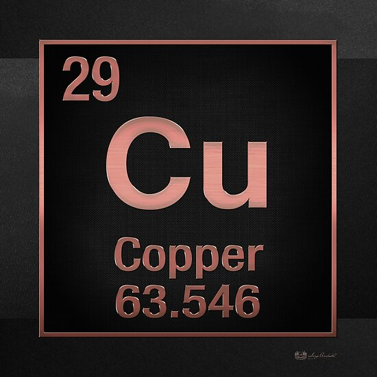Periodic table of elements copper copper cu on black posters periodic table of elements copper copper cu on black by serge averbukh urtaz Choice Image