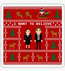 I WANT TO BELIEVE IN UGLY CHRISTMAS Sticker