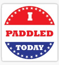 I Paddled Today Sticker