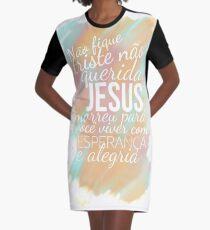 Jesus Traz Esperança e Alegria Graphic T-Shirt Dress