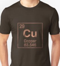 Periodic Table of Elements - Copper (Cu)  Unisex T-Shirt