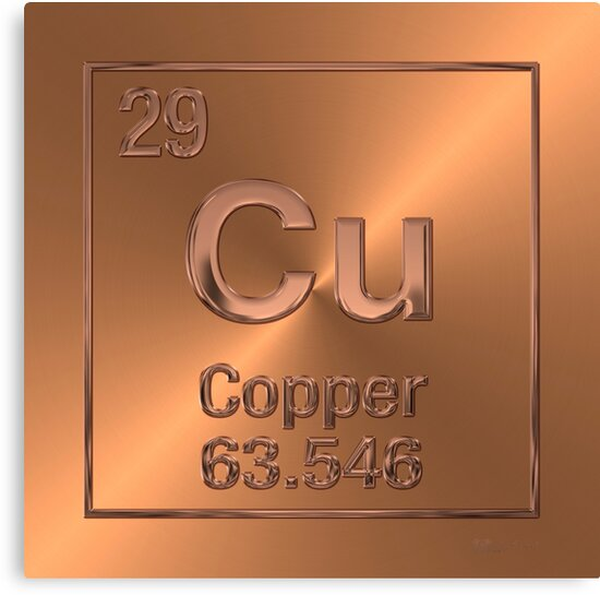 Periodic table of elements copper cu canvas prints by serge periodic table of elements copper cu by serge averbukh urtaz