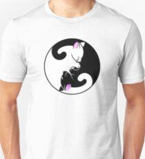 Cat Yin Yang Symbol - Stickers and T-shirts Unisex T-Shirt