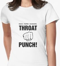 Rock Paper Scissors Throat Punch! Women's Fitted T-Shirt